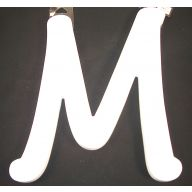 """9""""X6.5 WHITE WOOD LETTERS (24 DIFFERENT LETTERS)"""
