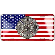 """6 X 12 """" Fire Rescue License Plate"""