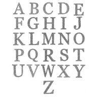 "2 "" Rhinestone Letter Sticker ( 26 Letters )"