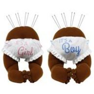 "2 Assorted 12 "" H Baby Bottom Decor Dark Skin / Boy - Girl"