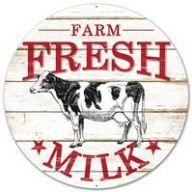 """12 """" Dia Farm Fresh Signs"""