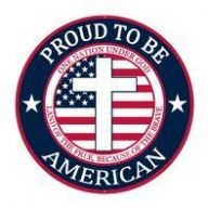 """12 """" Dia Proud To Be American Sign - Red / White / Blue"""