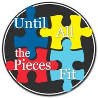 "12 "" DIA Metal Autism Puzzle Pieces - Black / White / Blue / Red / Yellow"