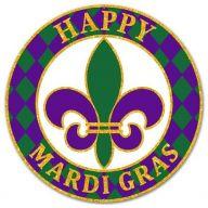"12 "" DIA Metal "" Happy Mardi Gras "" Sign - Mardi Gras"