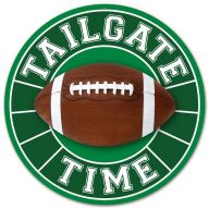 "12"" Round ""Tailgate Time"" Football Sign"