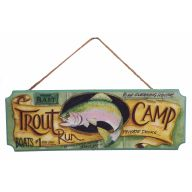 Trout Camp Hanging Plaque