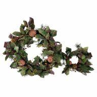 "S / 2 20 "" Burgundy Beaded Apple Pear Pomegranate & Pine Cone Wreath"
