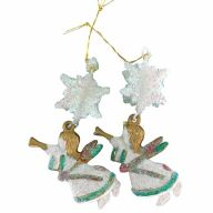 """3"""" Mini Angel w/ Snowflakes (Sold By Pack Of 2)"""