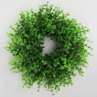 "12"" Mini Boxwood Wreath - Green"