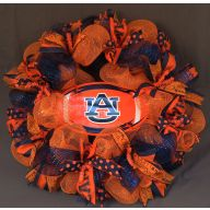"24 "" Premade Mesh Wreath Auburn Oval Tag"