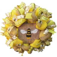 """24 """" Premade Spring """"Old Fashioned Pure Honey"""" Mesh Wreath"""