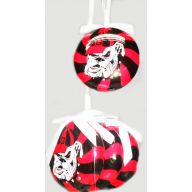 SET OF 3 COLLEGIATE PEPPERMINT ORNAMENT (3 TEAMS)