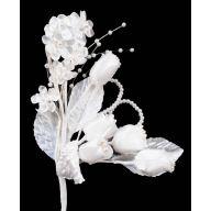 "8 "" Mixed Wedding Bridal Floral Stem - White"