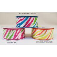 """1.5 """" X 10yd Wired Zebra Stripes"""