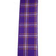 "2.5 "" x 10 yd Wired Burlap Tartan - Purple / Yellow / White"