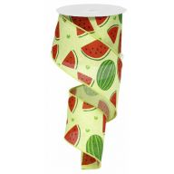 10yd Wired Cross Royal Watermelons