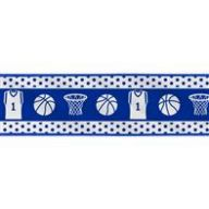 "2.5 "" x 10 yd Wired Basketball Gear - White / Royal Blue"