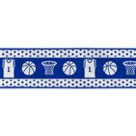 "2.5 "" x 10 yd Wired Basketball Gear - White / Royal Blue"