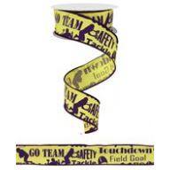 """1.5 """" x 10 yd Football Touchdown Print ( 2 teams )"""