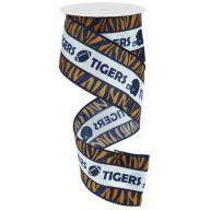 "2.5 "" X 10yd Wired Auburn Tigers Ribbon"