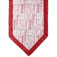 "72 "" Alabama Print Table Runner - Crimson / White"