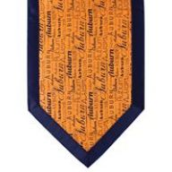 "72 "" Auburn Print Table Runner - Orange / Navy"