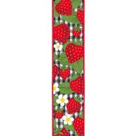 "2.5"" X 10yd Strawberries On Check - Black / White / Red (R6740-X6)"