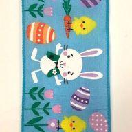 "2.5"" X 10yd Blue Satin Ribbon Easter Bunny Fun"