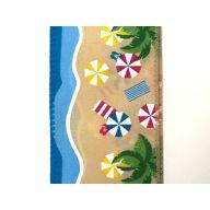 "2.5"" X 10yd Wired Satin Seashore Beach Day Ribbon"