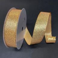 "1.5"" X 50yd Wired Glittered Satin Ribbon"