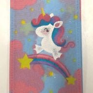 "2.5"" X 10yd Unicorns and Rainbows Ribbon"