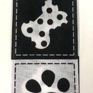 "2.5"" X 50yd Wired Doggie Pawprints / Bones Ribbon"