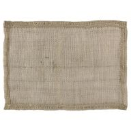 "18"" X 13"" Burlap Placemat - Natural (Sold By Pack Of 12)"