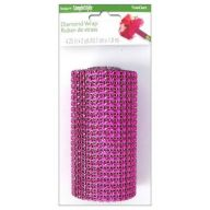 "4.25 "" x 2yd Diamond Wrap Ribbon - Fuschia"