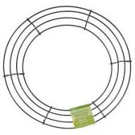 "12"" WIRE WREATH - GREEN"
