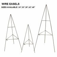"24"" - 48"" Wire Easels (Sold By Bundles or Case Only)"
