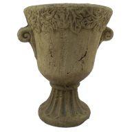 Medium Vase W Leaf Design