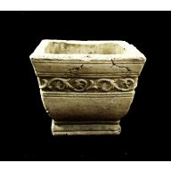 "Square Footed Pot 6.5 X 6.5 X 5.25 "" - Stone"
