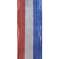 "2.5 "" X 10 yd Reagan Wired Ribbon - Red / White / Blue"