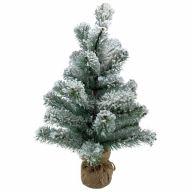 "20"" PVC Flocked Tree w/ Burlap Base 12""Dia"