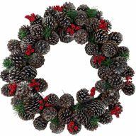 """21"""" Pinecone Berry Wreath"""