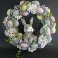 Egg / Styro / Vine / Wreath w/ Bunny Head