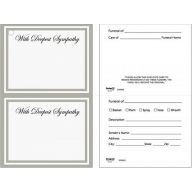 Double Sympathy Cards - With Deepest Sympathy - 50 Pack