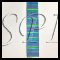 """1.5 """" 10yd Wired Vertical Stripe"""