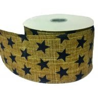 "2.5 "" X 10yd Wired Burlap Star Ribbon"