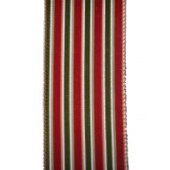 10yd Wired Christmas Stripe