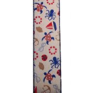 10yd Wired Canvas Nautical