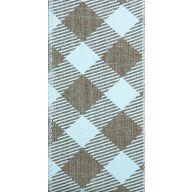 "1.5 "" x 10 yd Wired Mordern Arglye - Natural / White"