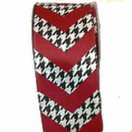 "2.5""X10YD HOUNDSTOOTH / CRIMSON CHEVRON"