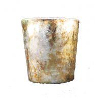 "Set of 6 2.5 "" Mercury Glass Votive - Burnt Gold"